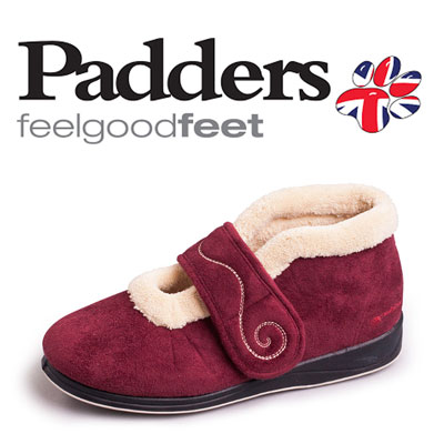 padders logo and slipper
